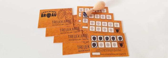 Treuekarte - Schildchen Bräu